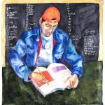 Carlos Studing English © Berenice Pliskin 2013