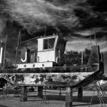 Tug at Viking Boat Yard © Bob Pliskin 2013