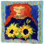 Woman-with-Sunflowers © Berenice Pliskin 2013