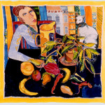 Woman with Still Life & Cat © Berenice Pliskin 2013